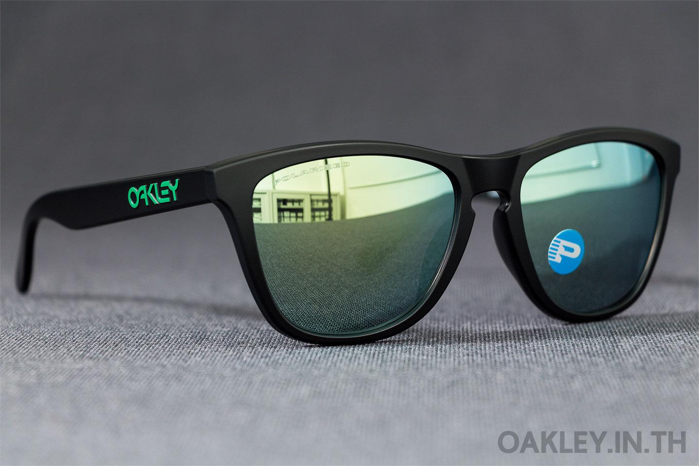 6ba3a944f6f OAKLEY FROGSKINS (Asian Fit) Matte Black Emerald Iridium Polarized