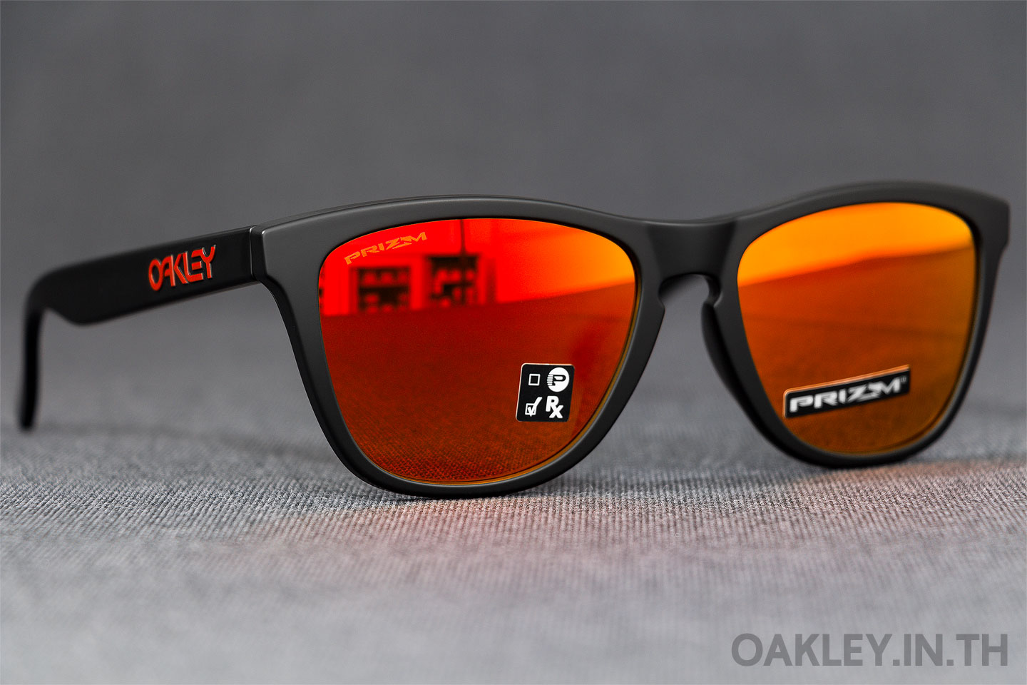 4093a3593f OAKLEY FROGSKINS (Asian Fit) Prizm Collection Matte Black Prizm Ruby Iridium