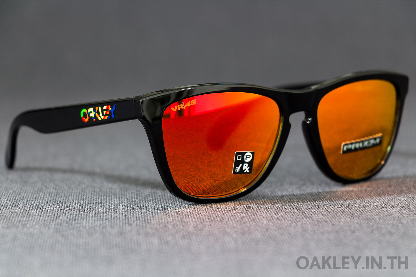 OAKLEY FROGSKINS Valentino Rossi VR46 Signature Collection Polished Black  Prizm Ruby Iridium 4b3bc0da5604