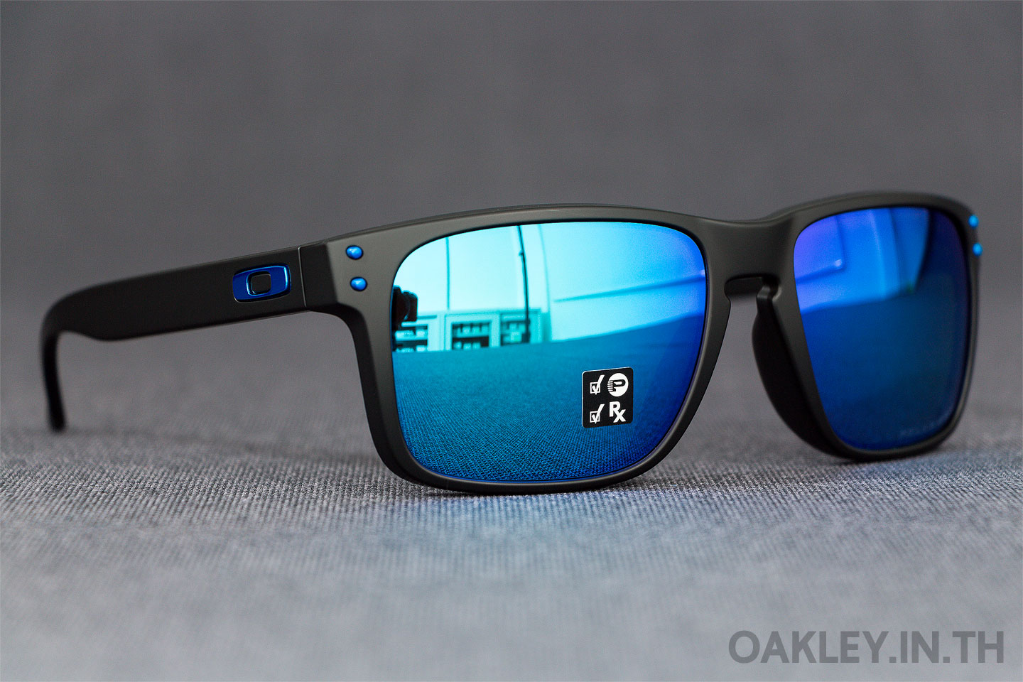 cc21323e071 OAKLEY HOLBROOK (Asian Fit) Matte Black Sapphire Iridium Polarized