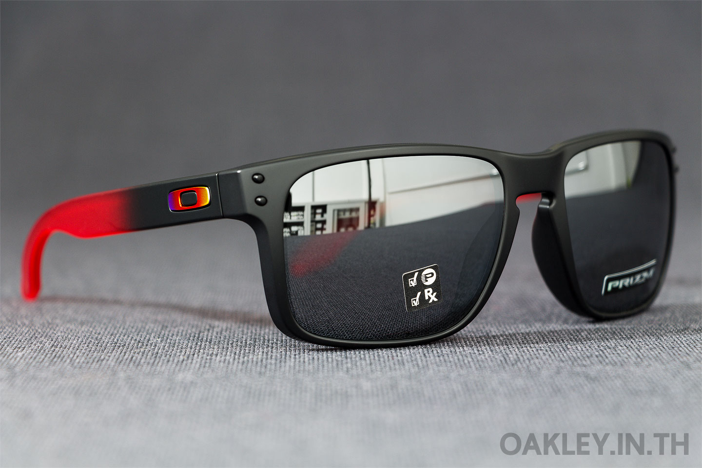 5e42dc21395 OAKLEY HOLBROOK Ruby Fade Collection Ruby Fade Prizm Black Iridium Polarized
