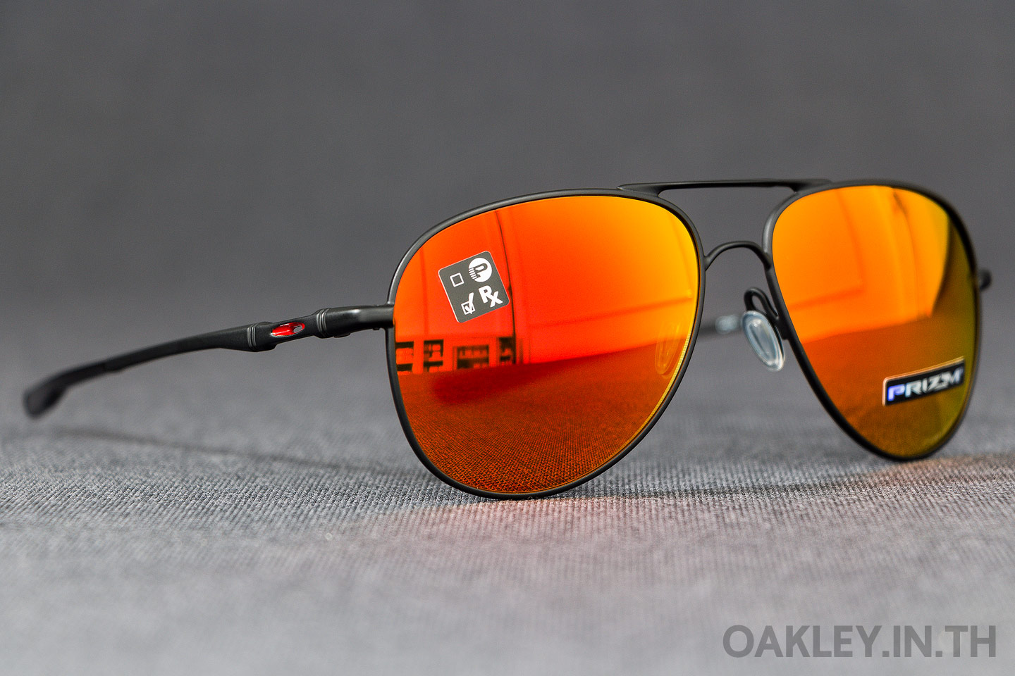 52aa64975fa OAKLEY ELMONT M (Medium) Satin Black Prizm Ruby Iridium