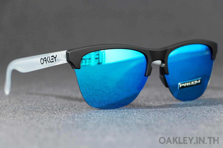 f63485936b6 OAKLEY FROGSKINS LITE Matte Black Matte Clear Prizm Sapphire Iridium ...