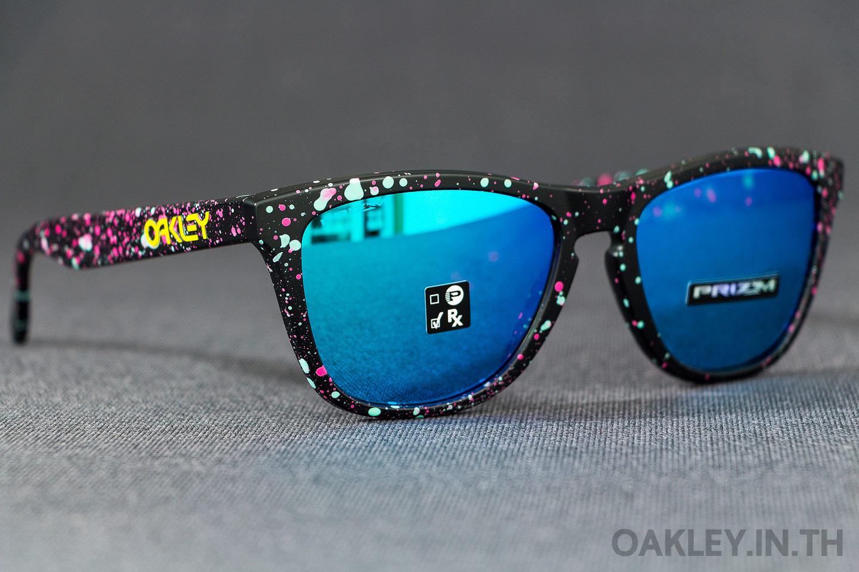 8482c14329 OAKLEY FROGSKINS Splatter Fade Collection Splatter Black Prizm Sapphire  Iridium