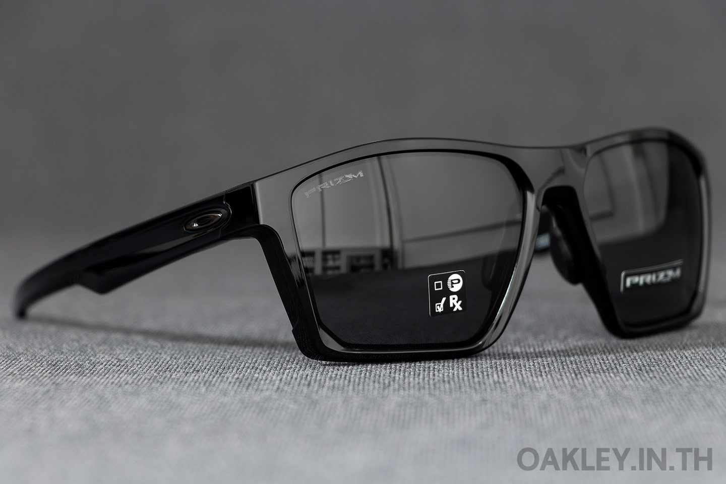 e35b9c8c79 OAKLEY TARGETLINE (Asian Fit) Polished Black Prizm Grey